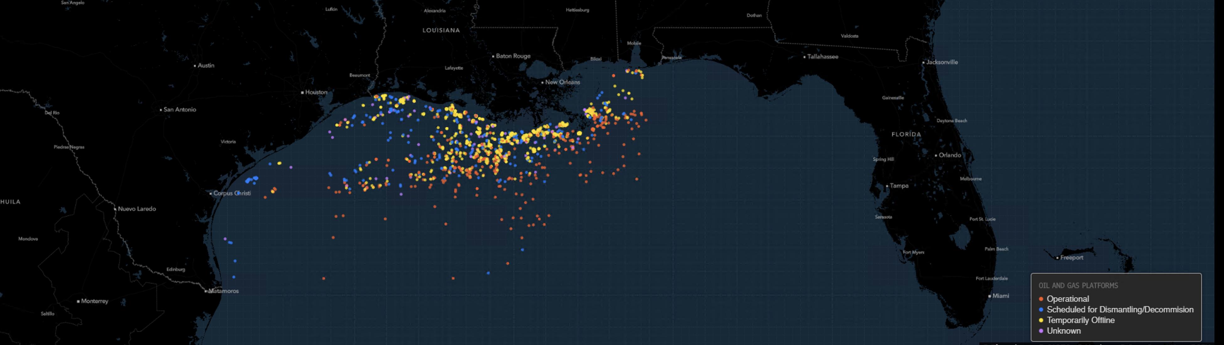 Oil Rigs Shutdown in Gulf of Mexico