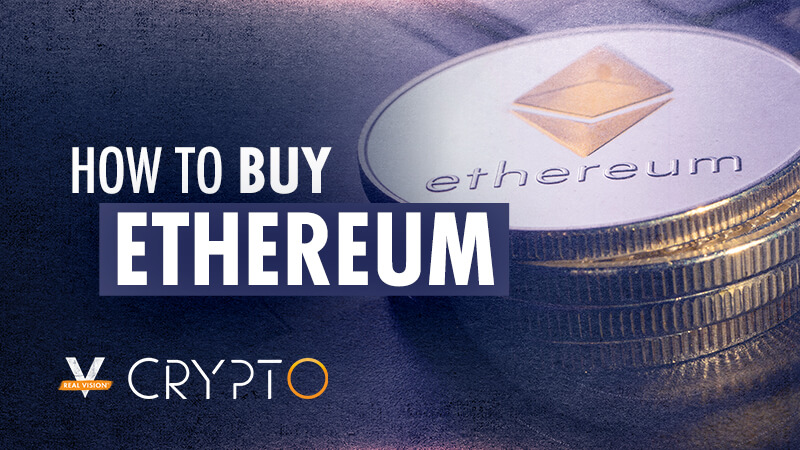Graphic illustrating how to buy ethereum