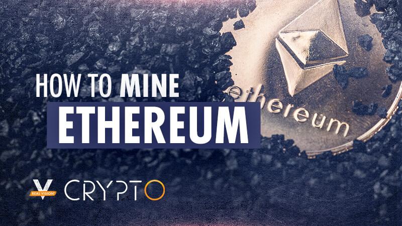 Graphic illustrating how to mine Ethereum